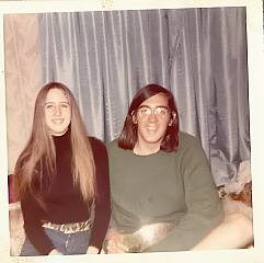 Me and my college boyfriend in 1972