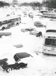 Chicago's Lake Shore Drive after the blizzard of '67.
